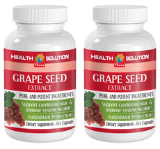 Grape Seed Extract 50mg Powerful Antioxidant (2 Bottles) Free Shipping - $19.59