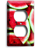 RED WATERMELON SLICES DUPLEX OUTLETS WALL PLATE COVER DINING ROOM KITCHE... - $10.99