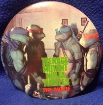 "Vtg Teenage Mutant Ninja Turtles The Movie Pin Button 6"" Spencer Gifts T... - $25.00"