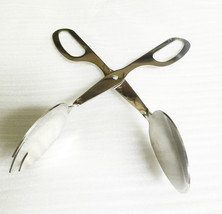 Stainless Scissor Salad Cake Tong Catering Serving Tongs Fork Tong BBQ Tong - $18.30