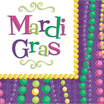 Mardi Gras 20 Luncheon Napkins Celebration Collection Party - $4.55