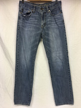 Men's AMERICAN EAGLE Medium Wash 30x32 Jeans Slim Straight 2012 AE AEO D... - $22.91