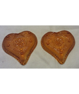 Vintage INDIANA GLASS Heart Card Suite AMBER GLASS Nut Candy Dishes - $9.00