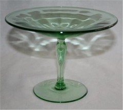 "Vintage FOSTORIA FAIRFAX Green 6-3/8"" Compote   #M26 - $58.00"