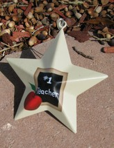 OR205 - #1 Teacher Metal Christmas Ornament  - $1.95