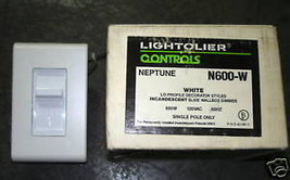 Lightolier Controls Slide Wallbox Dimmer N600-W White - $15.84