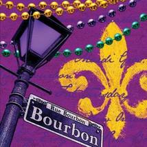 Rue Bourbon Mardi Gras 16 Ct Luncheon Napkins - $3.79
