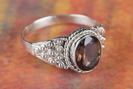 Fantastic Faceted Smoky Quartz Gemstone Silver Ring All size BJR-517-SQC - $13.99+