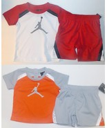 Air Jordan Infant Toddler Boys 2pc Shorts Outfit 2 Choices Sizes 6-9M or... - $23.99