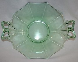 """Vintage FOSTORIA FAIRFAX Green Bow Handle 10"""" Dessert Bowl  #M23 - $80.00"""