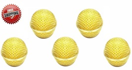 beta58 grille 5 PACK Gold  Head Mesh Microphone Grille for Shure SM58 Mi... - $33.99