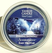Yankee Candle Scenterpiece Easy MeltCup EVENING SNOWFALL Easy Melt Cups ... - $16.82