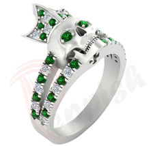 Round Cut 0.72 Ct Green Diamond Engagement Wedding Anniversary 925 Silve... - $98.01