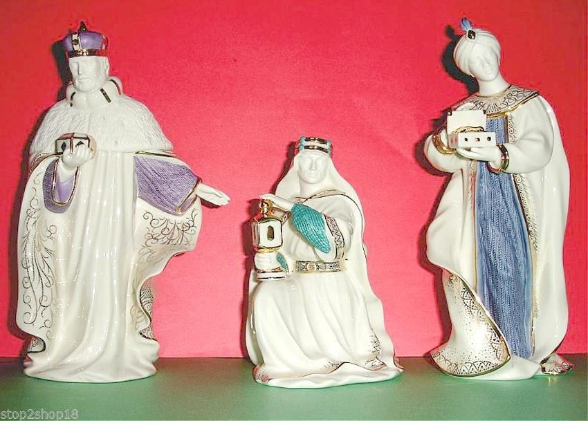 Lenox First Blessing Nativity The Three Kings 3 PC. Figurine Set New image 3