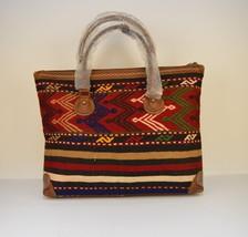 kilim travel bag,Vintage Leather kilim bags,women's bag travel bags, Duf... - $399.00