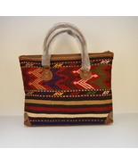 kilim travel bag,Vintage Leather kilim bags,women's bag travel bags, Duf... - $399.00