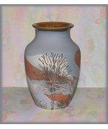 Vase Jar Sevierville Pottery,TN Dusty Blue with... - $24.99
