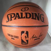KOBE BRYANT / NBA HALL OF FAME / AUTOGRAPHED FULL SIZE NBA LOGO BASKETBALL / COA image 3