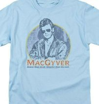 MacGyver Retro 80s adventure action TV series blue graphic t-shirt CBS1640 image 3
