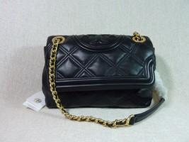 NWT Tory Burch Black Soft Fleming Small Convertible Shoulder Bag - $473.22