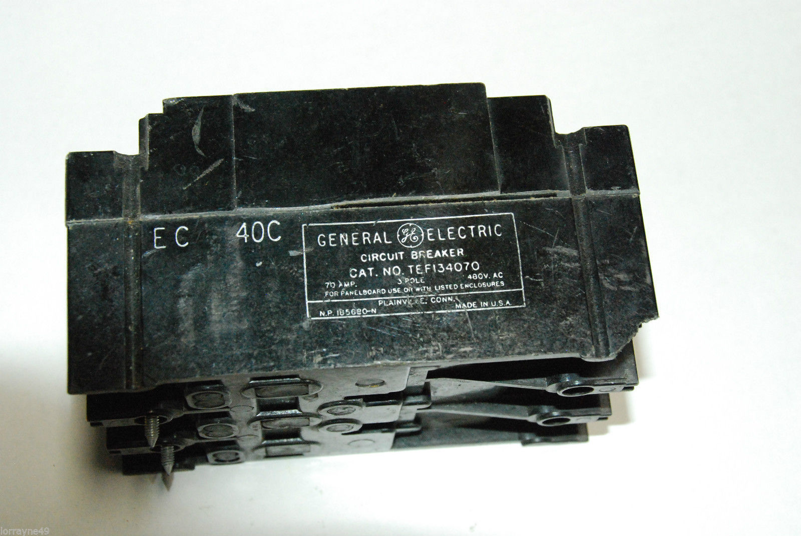 General Electric Tef134070 70amp 480v Volt And 50 Similar Items About Siemens Murray Mp3030 30 Amp Single Pole Circuit Breaker 2 Molded Case 70a
