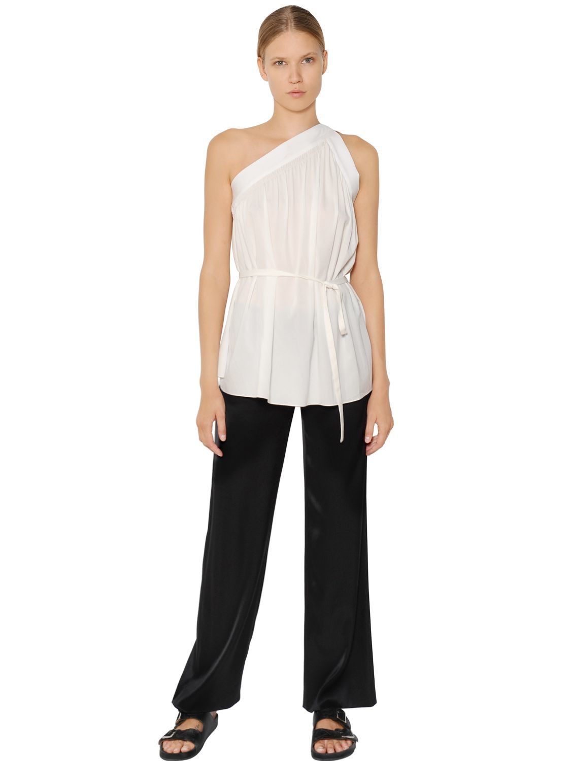 95f79aaca NWT Helmut Lang Stretch Silk Crepe Shirred and 42 similar items