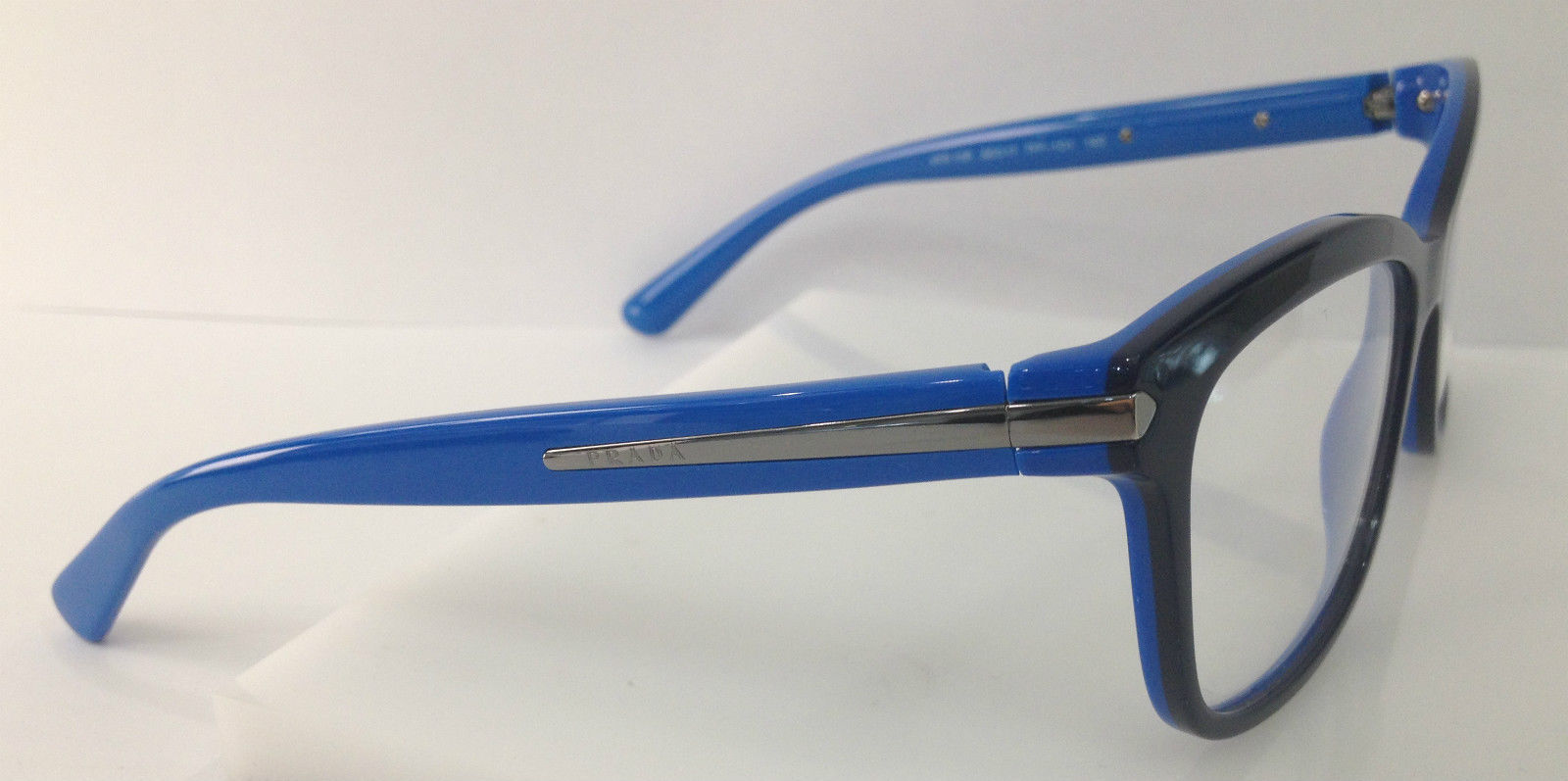 PRADA VPR 10R TFF-1O1 BLUE PLASTIC EYEGLASSES FRAME 55-17 ...