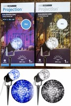 GEMMY LIGHTSHOW LED KALEIDOSCOPE PROJEcTION LIGHT ICY BLUE OR SWIRLING W... - $12.97