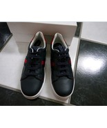 NIB 100% AUTH Gucci Kids Navy Blue Leather Lace Up Trainers Sneakers - $177.21