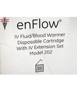 enFlow IV Fluid Blood Warmer Disposable Cartridge w/ IV Extension Set Mo... - $36.05