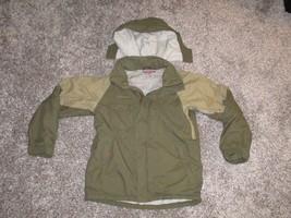 Boys Columbia Convert Snowboarding Jacket w/ Hood, Green, Size 14/16 - $16.40