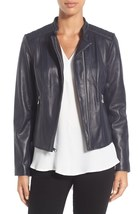 Women's Handmade Black Color Motto Quilted Style Genuine Leather Jacket - $145.00+