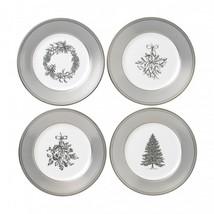 Wedgwood Winter White Christmas Salad Plate Set of 4 New # 40032848 - $157.41