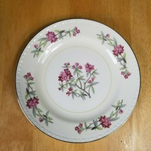 Homer Laughlin Eggshell Georgian Bread Plate G3436 Pink Flowers Verge 1940's - $4.94