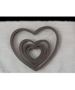 Wilton 4 Hearts Cookie Cutters Vintage Hong Kong Plastic Brown Nesting 2... - $3.99