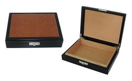 Travel Sized Cigar Humidor, Personalize Cigar Box, Groomsman Cigar Case,... - $49.49