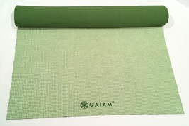 GAIAM No-Slip Yoga Mat Towel Microfiber Moisture Absorbing Citron Lime 6... - $15.00