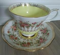 ROYAL ALBERT Green Park Series Yellow Bone China Teacup & Saucer England - $23.58