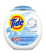 Tide PODS Free Gentle, Liquid Laundry Detergent Pacs, 81 count - $33.87