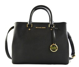 Michael Kors Savannah Saffiano Leather Large Satchel Crossbody Bag Purse... - $173.91