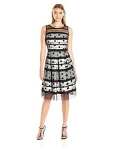 Sandra Darren Women's Sd Collection Sleeveless Shantung Dress with Strip... - $67.31+