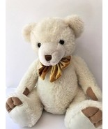 Golden Bear Company Ltd.large white teddy bear, with velvety paws and a ... - $14.95