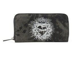 Lost Queen Sacred Heart Tattoos Gothic Punk Clutch Wallet WT41055 - $23.99