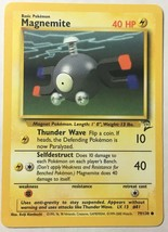 Magnemite 79/130 Pokemon Card Wizards Original Base Set 2 Great Conditio... - $2.54