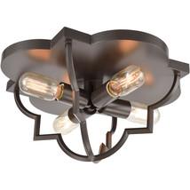 Elk Lighting 31789/4 Flush Mounts Oil Rubbed Bronze Steel Chandette - $352.00