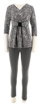 Women with Control Trendy Top Ruched Leggings 2 PC Set Smoke PXL NEW A26... - $40.57