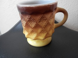 Anchor Hocking Vintage Fire King Coffee Cup Gold Brown - $8.59