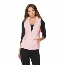 RHONDA SHEAR Size XL Marshmallow Zip Front Vest PINK - $63.31
