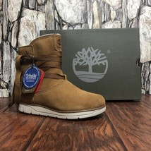 Timberland A17MW Leighland Women's Tan Suede Waterproof Insulated Pullon Sz 7 - $98.99