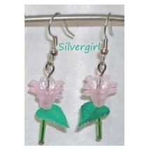 Single Stem Acrylic Dangle Earrings 7 color choices - £6.87 GBP